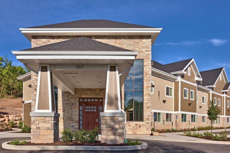 Assisted Living - Shadow Valley front entrance - Ogden UT